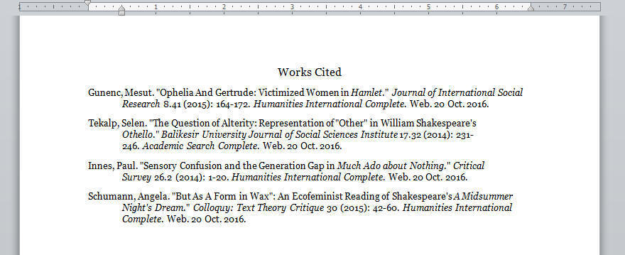a midsummer night s dream paper works cited page like this